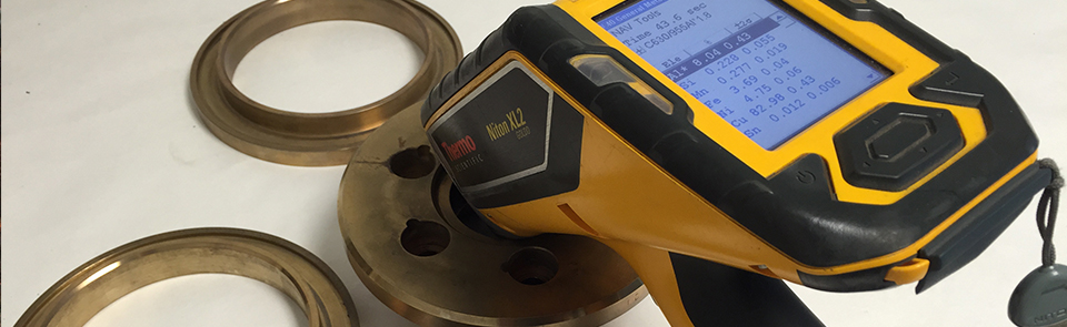 Totally non-destructive analysis utilizing X-Ray Fluorescence (XRF)